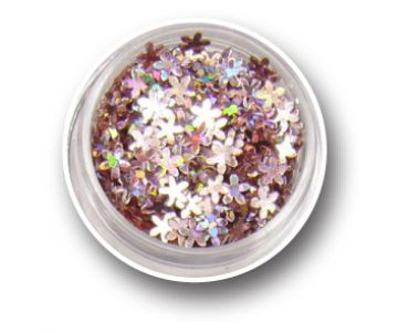 Metallic Flower Effect Glitter - Moon